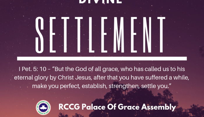 Prayer Points – Divine Settlement - RCCG Palace of Grace